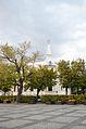 Dom Kolejarza, ul. B. Westerplatte 32, widok od strony Pomnika Bohaterów II WŚ.jpg