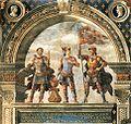 Domenico ghirlandaio, affreschi della sala dei gigli 02.jpg