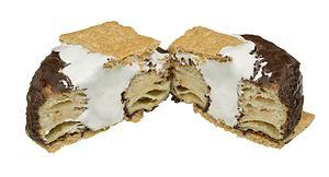 S'more - Image: Donut Pub Crossiant Donut Smores Split