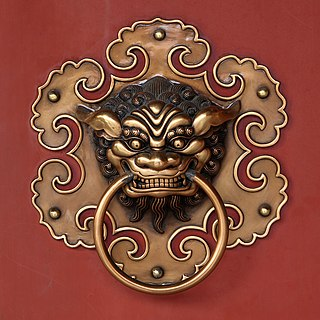 Doorknob of the Siong Lim Temple