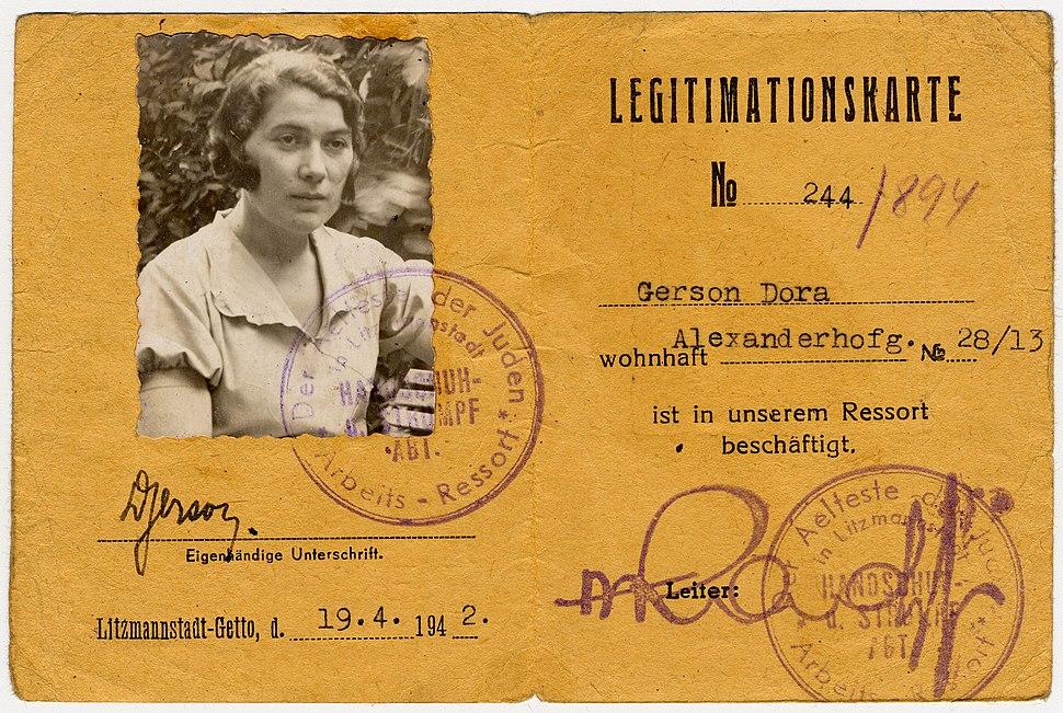 Dora Gerson, Litzmannstadt-Getto, 1942