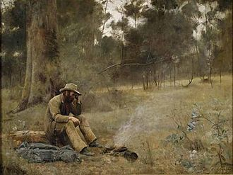 Box Hill South, Victoria - Down on His Luck, by Frederick McCubbin