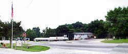 Principal intersection in Gateway, Arkansas