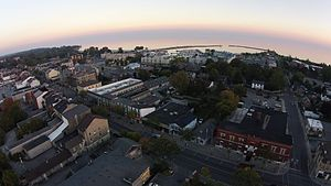Cobourg - Downtown Cobourg, Ontario, Canada. Aerial View taken from a DJI Phantom Vision