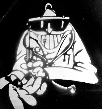Dr. Feelgood (band) - Dr. Feelgood's mascot as used by the band in the 1970s and early 1980s.
