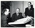 Dr. Antonio Magalhaes Colaco, Consul of Portugal; Mayor John F. Collins; Mr. Anibal Martins, Vice-Consul of Portugal (13562860733).jpg