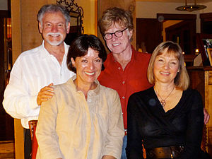 Warren Farrell - Farrell with Robert Redford, Bylle Szaggars, and Liz Dowling