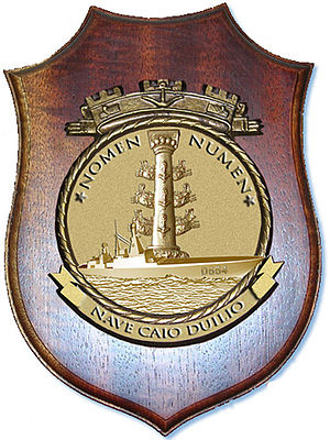 Italian destroyer Caio Duilio - The Coat of Arms of Caio Duilio.