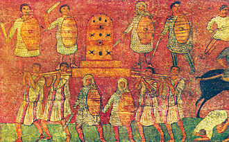 Eben-Ezer - Depiction of the Battle of Eben-Ezer from the Dura-Europos synagogue (pre-244 CE)