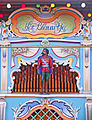 Dutch street organ 'Het Blauwtje' (the Little Blue), modified as 52-key Verbeeck, originally built as 49-key Marenghi organ in 1920s - details 1 - Penryn, Cornwall.jpg