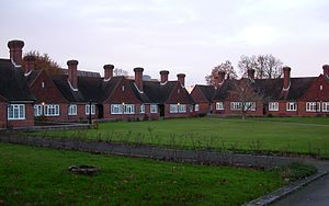 Dyers Almshouses - The almshouses are arranged around a landscaped courtyard.