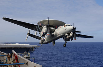Airborne early warning and control - Image: E 2C Hawkeye