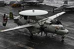 E-2C Hawkeye of VAW-115 lands on USS Ronald Reagan (CVN-76) in July 2016.JPG