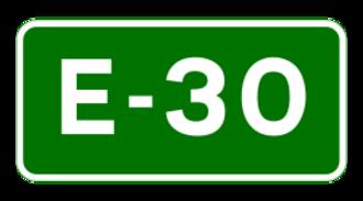N25 road (Ireland) - Image: E 30 euroroute IE