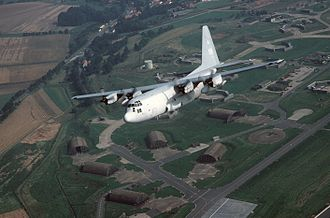 66th Air Base Wing - EC-130H over Sembach AB