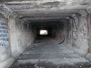 English: Tunnel in Tondiraba. In 1980's it was...