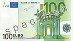 EUR 100 obverse (2002 issue)