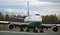 EVA Air Cargo 747 starting its takeoff roll at ANC (6194233734).jpg