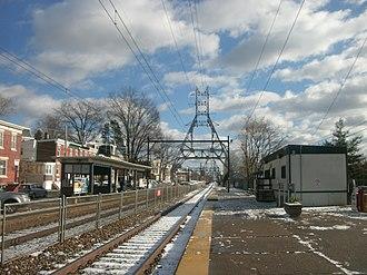 East Falls station - East Falls station in December 2012.