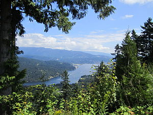 Burrard Inlet - The eastern arm of Burrard Inlet towards Port Moody (taken from Burnaby Mountain)