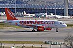 EasyJet, Airbus A319-111, G-EZFR - MAD (22934908332).jpg