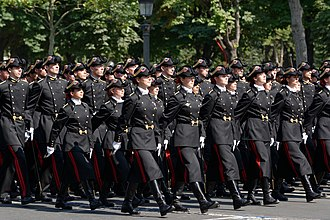 École Polytechnique - Polytechnique cadets during the 2010 Bastille Day military parade in Paris