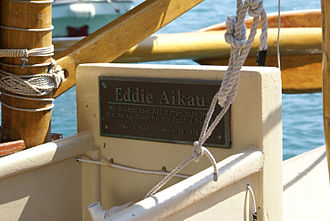 Eddie Aikau - Memorial Plate on Hokule'a