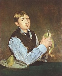 Édouard Manet : Young Boy Peeling a Pear