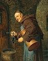 Eduard von Grützner - A cellarer with a bunch of keys.jpg