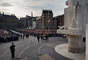Remembrance of the Dead - Commemoration ceremony at Dam Square in Amsterdam on 4 May 2014