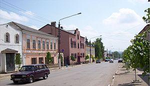 Yefremov (town) - Sverdlova Street in central Yefremov