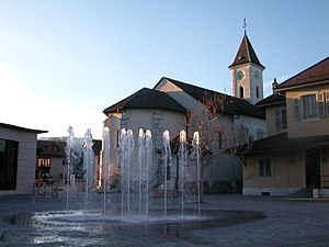Canton of Geneva - Village square in Meyrin