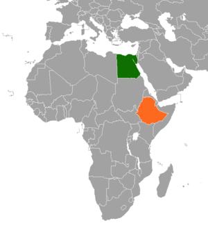 Egypt–Ethiopia relations - Image: Egypt Ethiopia Locator