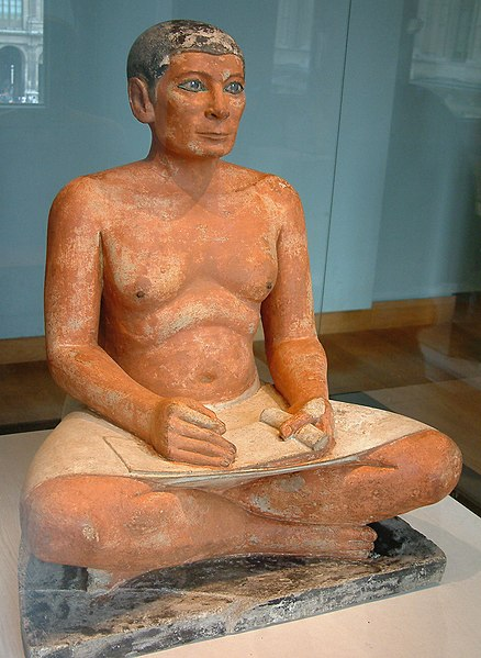 Archivo:Egypte louvre 285 scribe.jpg