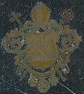 Wappen auf seinem Gedenkstein im Boden im Eichstätter Dom