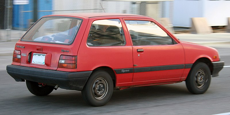 The Metro S Predecessor Chevy Sprint May Be Lighter Quick Search Shows At 1350 To 1600 Lbs