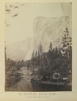 El Capitan - 1864 photo of El Capitan by Charles Leander Weed