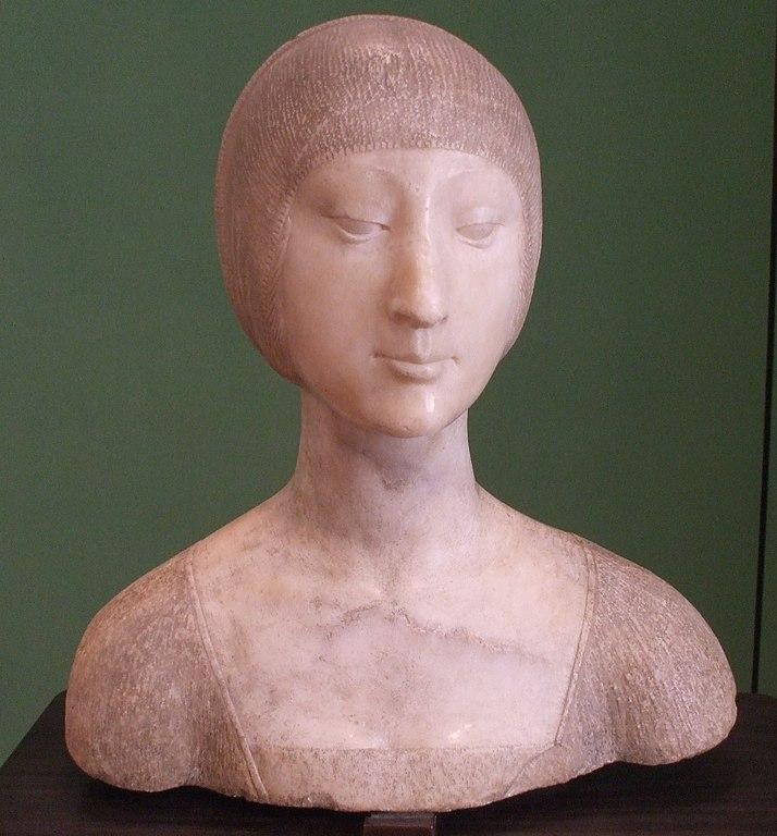 Buste d'Eléonore d'Aragon réalisé par Francesco Laurana au Palazzo Abatellis à Palerme.