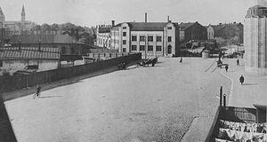 Vltava (restaurant) - The cargo storehouse of the Finnish railways in 1911.