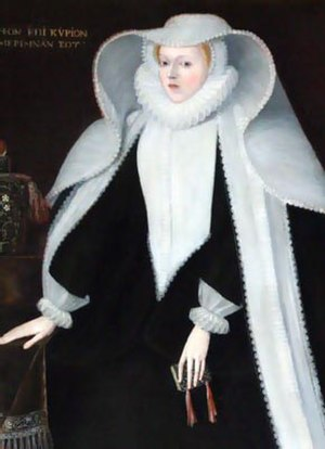 Thomas Posthumous Hoby - Portrait of Hoby's mother Elizabeth Hoby, at Bisham Abbey