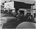 Eloy, Pinal County, Arizona. Crowds of cotton pickers on main street of Eloy late Saturday afternoon. - NARA - 522054.tif