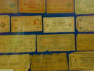 Emergency circulating notes Currency printed by the Philippine government in exile in World War II