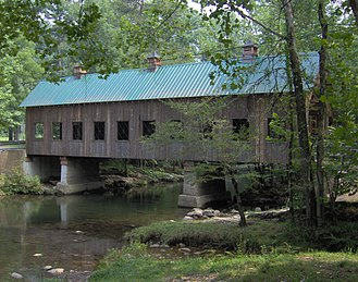 Pittman Center, Tennessee - Emert's Cove Covered Bridge in Pittman Center. The bridge spans the Middle Fork of the Little Pigeon River.