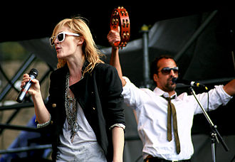 Metric (band) - Emily Haines and Josh Winstead performing with Metric, 2009