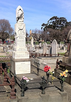 Frederick Bailey Deeming - Grave of Emily Mather, Melbourne General Cemetery