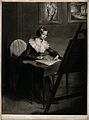 Emma Smith sketching. Mezzotint by A. Probyn, 1801, after J. Wellcome V0049035.jpg