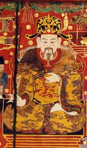 Lý Nam Đế - Portrait painting of Lý Nam Đế in Lê dynasty era.