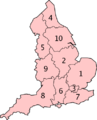 England Strategic Health Authorities Numbered 2006.png