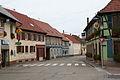 """Epfig, Rue des Alliés avec restaurant """"Aux 3 Roses"""".jpg"""