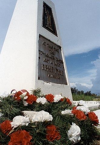 Ernie Pyle - The Ernie Pyle Memorial on Iejima